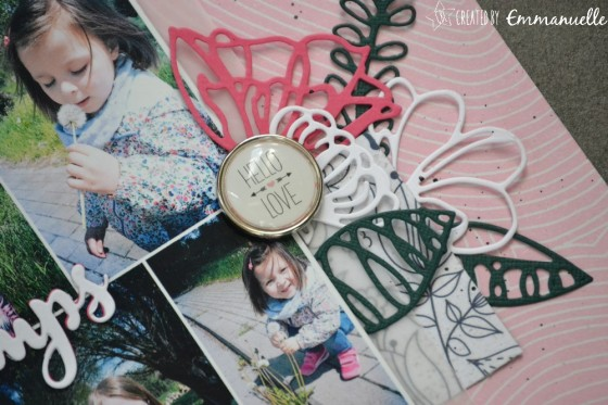 "Page Scrap A4 ""Printemps"" Avril 2019 