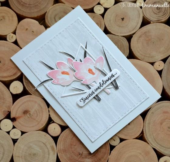 "Carte de condoléances ""crocus"" juin 2019 | Created by Emmanuelle"