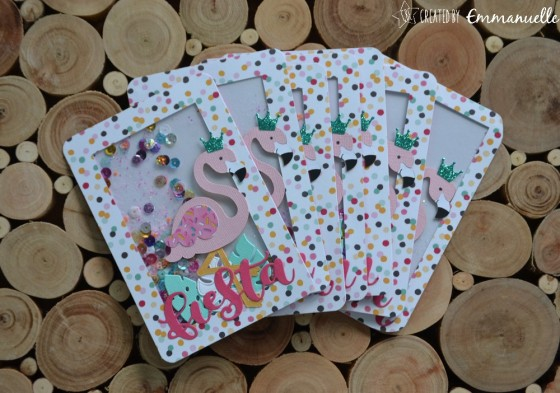 "Invitations anniversaire de Nina ""Flamants roses"" Août 2019 
