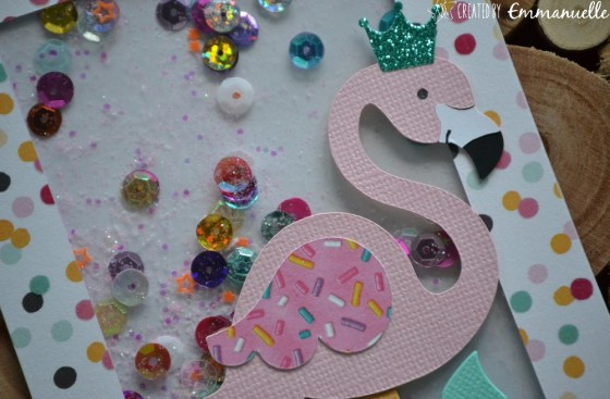 "Invitations anniversaire de Nina ""Flamants roses"" Août 2019 | Created by Emmanuelle"