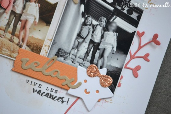 """Page Scrap A4 """"Moment"""" Août 2019 