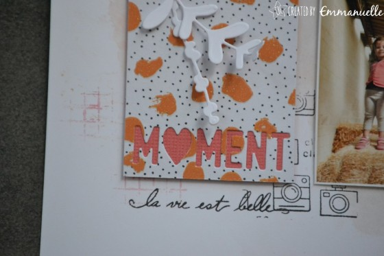 "Page Scrap A4 ""Moment"" Août 2019 
