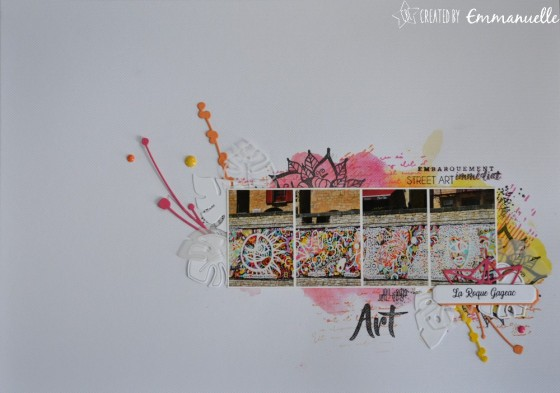 "Page Scrap A4 ""Street art"" Juillet 2019 