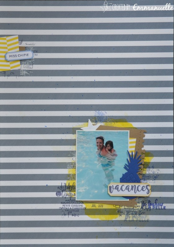 "Page Scrap A4 ""Vacances"" Août 2019 