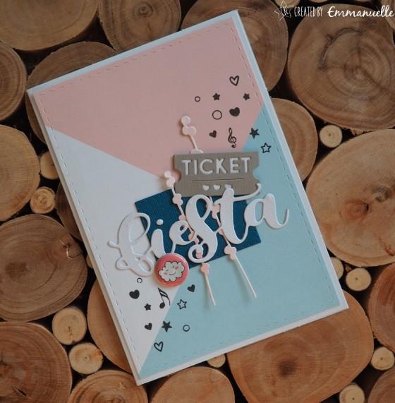 "Carte d'anniversaire ""fiesta"" octobre 2019 | Created by Emmanuelle"