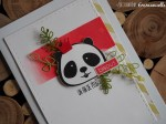 """Carte d'anniversaire """"panda"""" octobre 2019   Created by Emmanuelle"""