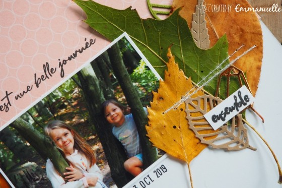 "Page Scrap A4 ""Forêt"" Octobre 2019 