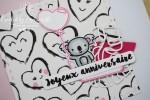 "Carte d'anniversaire ""coeurs & koala"" Mars 2020 | Created by Emmanuelle"