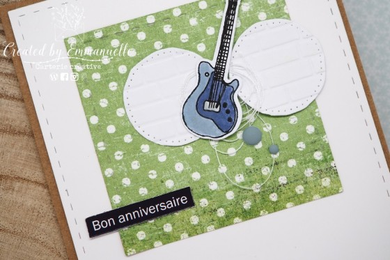 "Carte d'anniversaire ""rock"" Mars 2020 