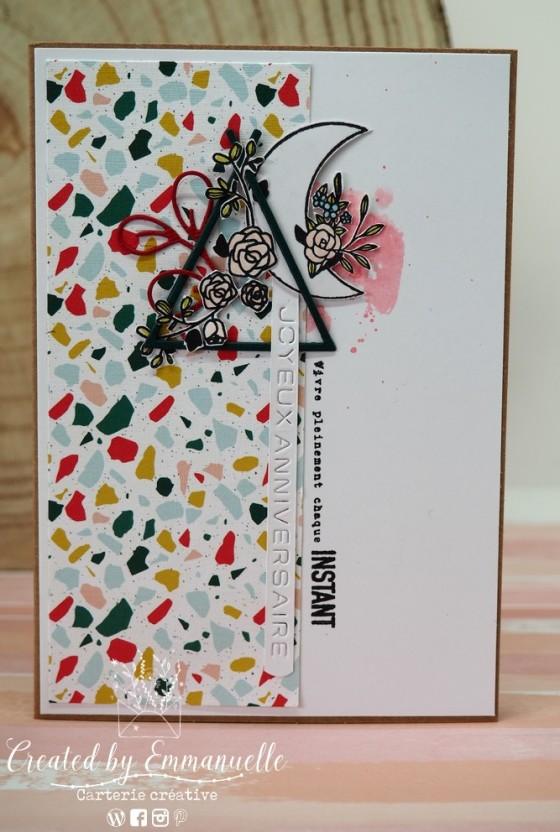 "Carte d'anniversaire ""tipi fleuri"" Avril 2020 | Created by Emmanuelle"