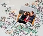 "Page Scrap A4 ""bonheur"" Avril 2020 | Created by Emmanuelle"