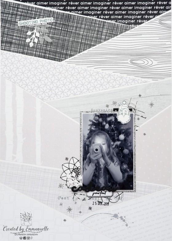 "Page Scrap A4 ""Cadeau"" Mai 2020 | Created by Emmanuelle"