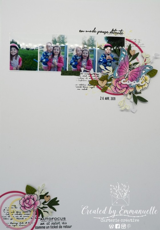 """Page Scrap A4 """"Cool"""" Mai 2020 