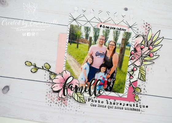 "Page Scrap A4 ""Famille"" Mai 2020 