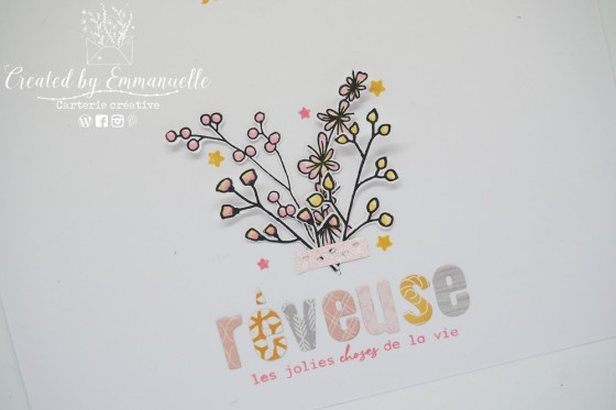 "Page Scrap A4 ""Rêveuse"" Mai 2020 