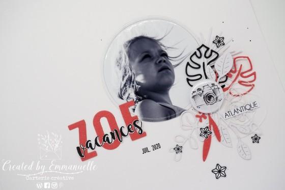 "Page Scrap A4 ""Zoé"" Juillet 2020 | Created by Emmanuelle"