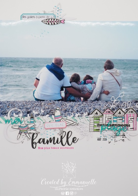 "Page Scrap A4 ""Famille"" Septembre 2020 