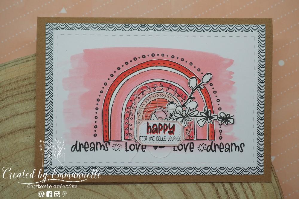 """Carte d'anniversaire """"rainbow"""" Septembre 2020   Created by Emmanuelle"""