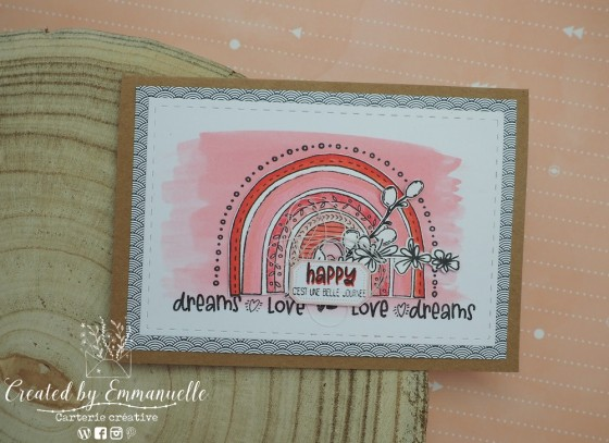 "Carte d'anniversaire ""rainbow"" Septembre 2020 