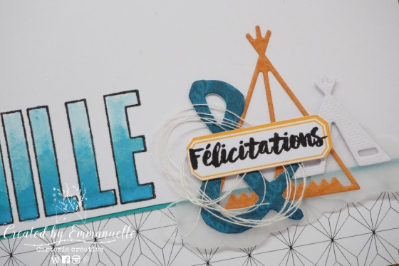 "Carte de félicitations (naissance) ""tipi"" Octobre 2020 | Created by Emmanuelle"