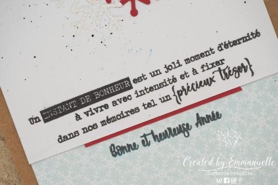 """Carte de vœux 2021 """"Flocon rouge"""" Novembre 2020   Created by Emmanuelle"""