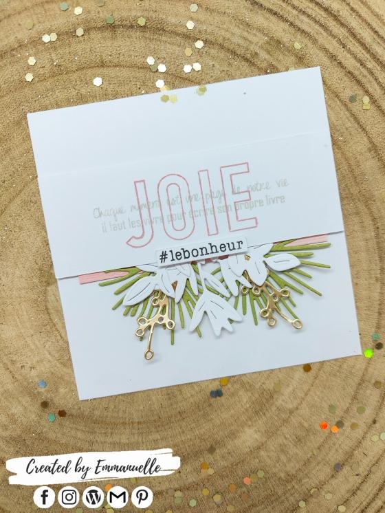 "Mini-carte ""JOIE"" Janvier 2021 | Created by Emmanuelle"